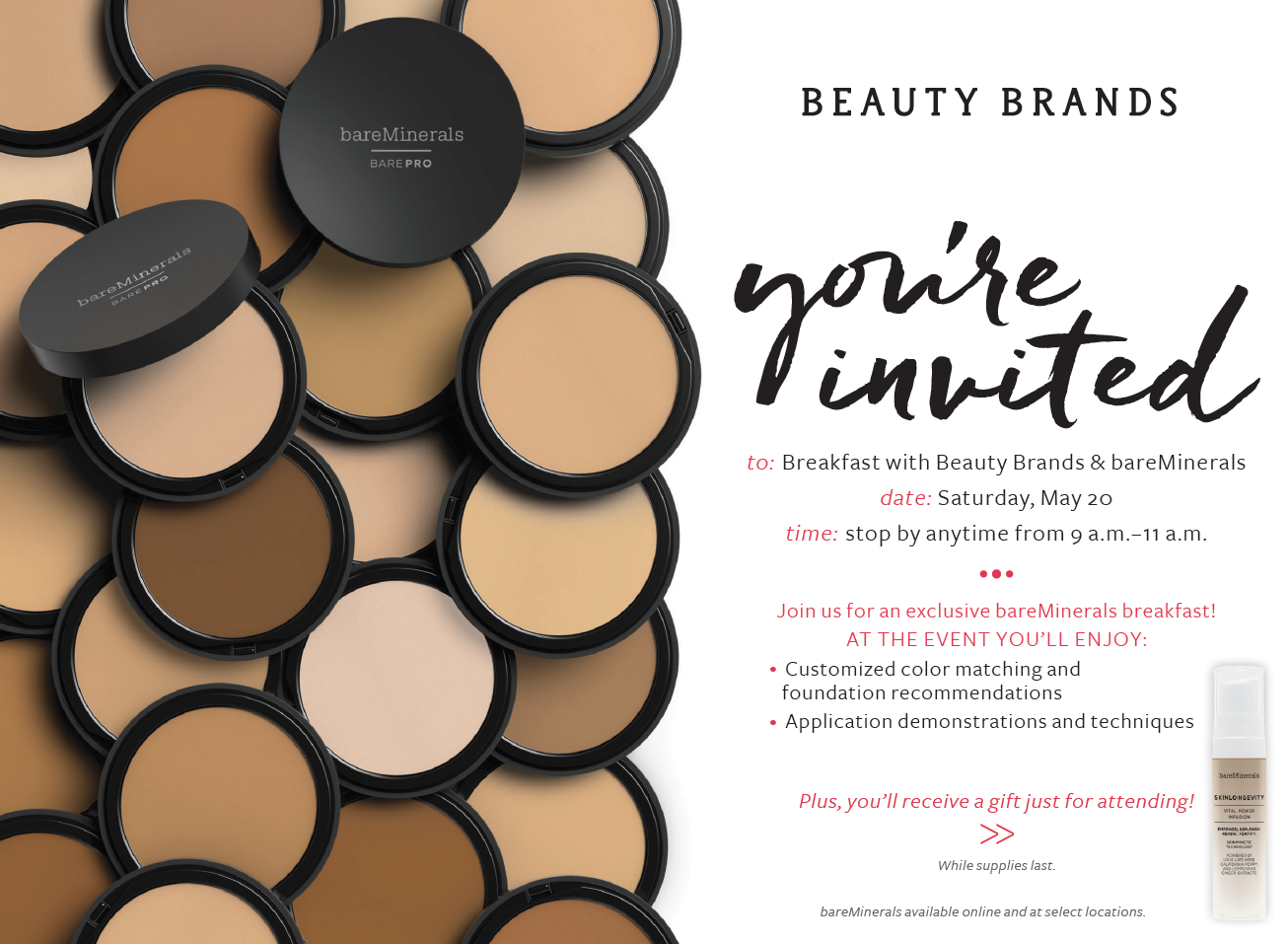 Beauty Brands + Bare Minerals - Melanie Knopke